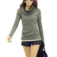 Women Turtleneck Sweater 2016 New Autumn Winter Fashion Slim Long Sleeve Casual Fleece Pullovers Warm Knitwear pull Femme