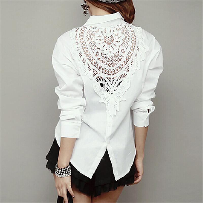 Белые Блузки С Кружевом