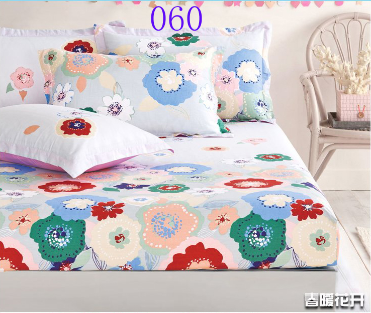colorful flowers cotton fitted sheet twin full queen size sheets bedspread bedsheet 120x200cm. Black Bedroom Furniture Sets. Home Design Ideas