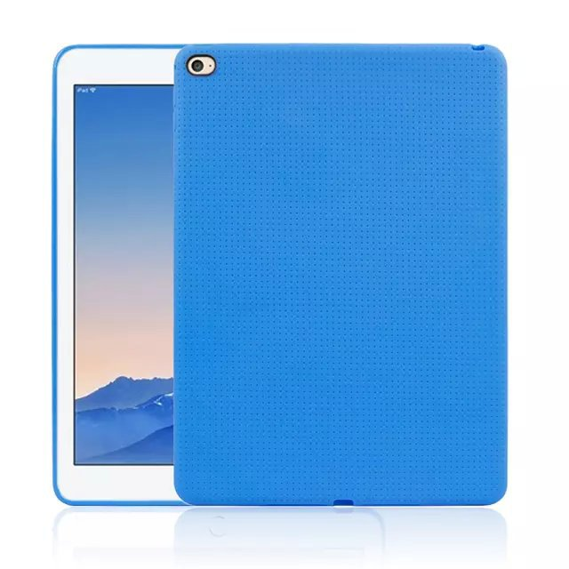 Solid Ultra Slim Silicon Cover For Apple IPad Air 2 Tablet Case Honeycomb Des