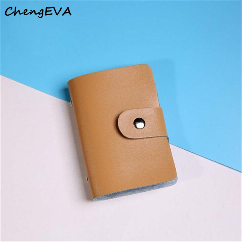 ChengEVA 1PC 100% brand new Women's Fashion Men Women Leather Credit Card Holder Case Card Holder Wallet Business Card Nov 1