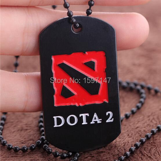 Dota 2 Metal Necklace logo Pendant Vintage Online Game Jewelry For Men 10pcs/lot(China (Mainland))