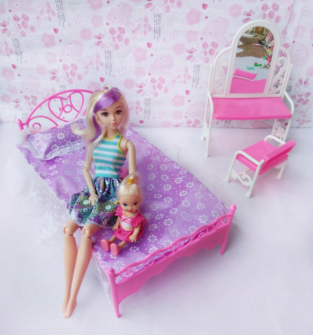 5PCS Bobbi Girls 1/6 Doll's Accessories DIY Fashion  Untuk itu patio furniture Kelly baby-reborn Bed Dressers Mix-style(China (Mainland))