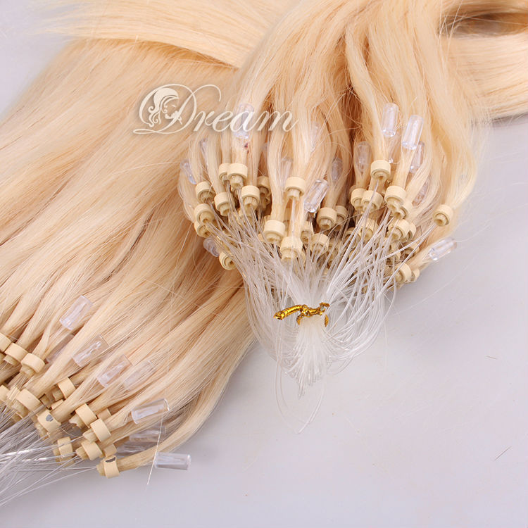 Remy Queen Hair Loop Micro Ring Hair Extensions 18 inch Straight Brazil Human Hair for White women 1g/strand 100s/parcel
