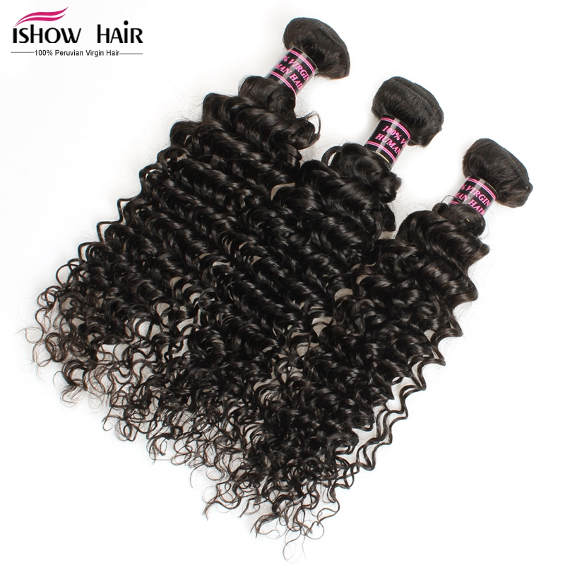 Ishow Peruvian Virgin Hair Deep Wave 3Bundles 6A Grade 100% Human Hair Weave Peruvian Deep Wave Cheap Hair Bundles Free Shipping<br><br>Aliexpress