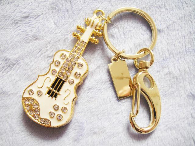 NewvCrystal Guitar 32GB 16GB 8GB Jewelry Usb Flash Drive 1TB 2TB Jewelry Usb Memory Stick Pendriver