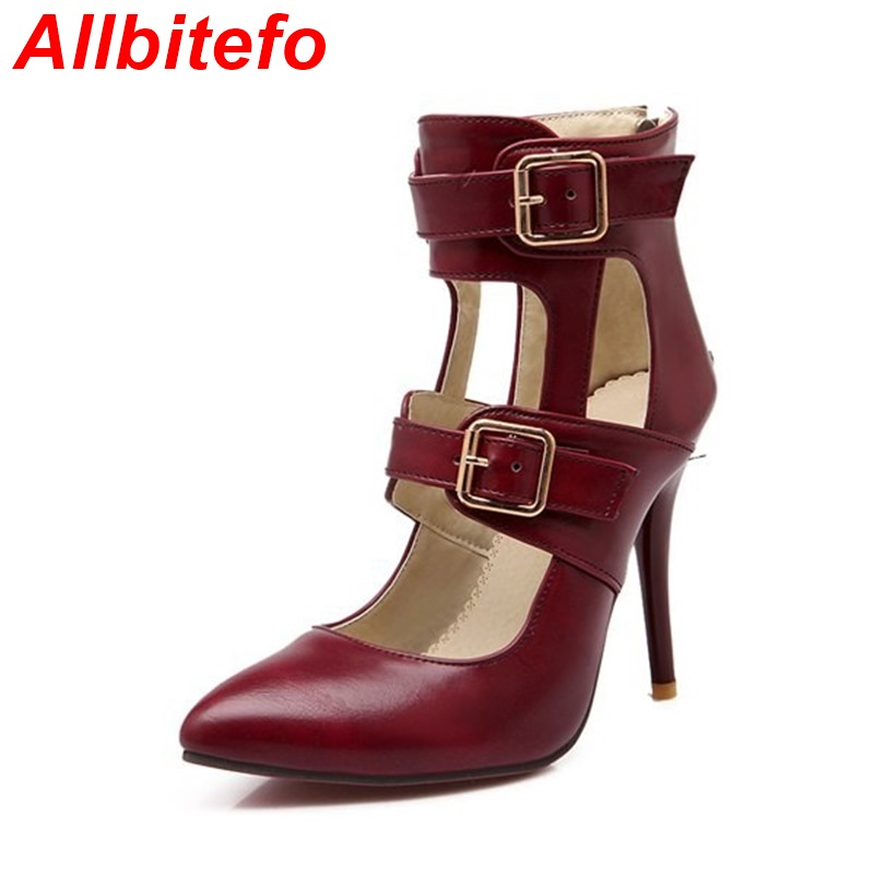 Plus size EUR 32-43 sexy fashion 4 colors women pumps 2015 new spring summer PU leather ladies high heels party wedding shoes<br><br>Aliexpress