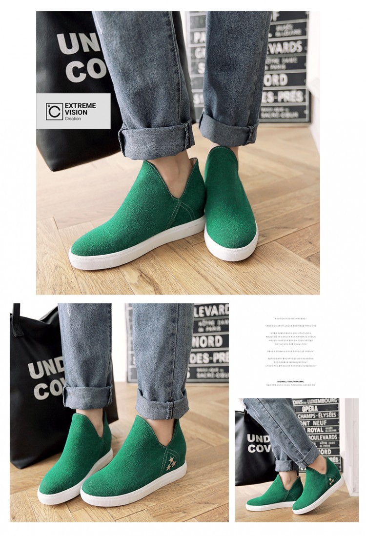2016 New Woman Candy Color Style Casual Shoes Female a Pedal Lazy Loafers Flock Single Shoes 5 Color Plus Size 34-43 ZK2.5