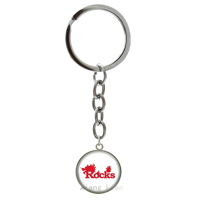 Simple modern style word art picture keychain Rocks rugby key chain football sport jewelry 2016 new fashion ball fans gift NF046(China (Mainland))