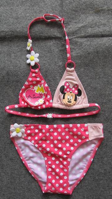 2013 new style free shipping set  Mickey Mouse baby girls swimsuits girl's bikini swimwear new design chlidren swimsuits