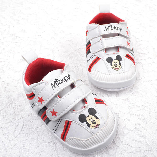 New fashion baby boys cartoon mickey shoes antiskid soft sole infant footwear prewalker first walkers high quality 4305