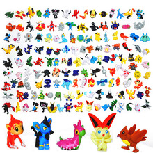 Japanese Pokemon figures set  144pcs 2016 New poke mon pikachu charizard  figurine figuras doll lot for kids party supply  decor(China (Mainland))