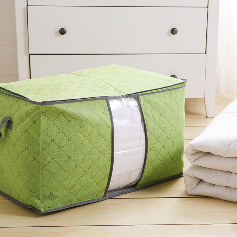 2016 large storage bag box clothes quilt duvet laundry pillows zipped handle hot selling PTSP(China (Mainland))