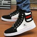 High Tops Quality For Men Casual Leather Boots Lace Up Black White Gold Color USA street