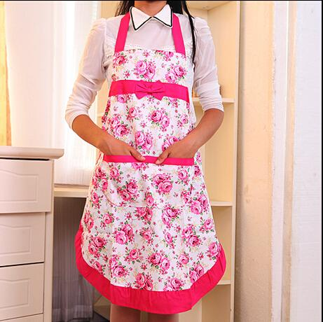 New hot sale Adjustable Cute Lovely Kitchen Aprons with Pocket For Women Girls Cooking Bib Apron Housework free shipping(China (Mainland))