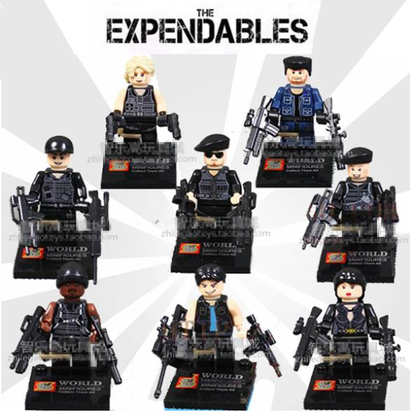 8pcs SWAT Police With Weapon Military CS Army City Officer Hero Riot Figures Minifigures Blocks Compatible With Lego<br><br>Aliexpress
