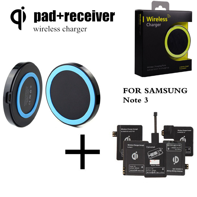 Mobile Phone Qi Wireless Charger Pad + Receiver Chip Tap For Support Samsung Galaxy Note 3 With USB Port(China (Mainland))