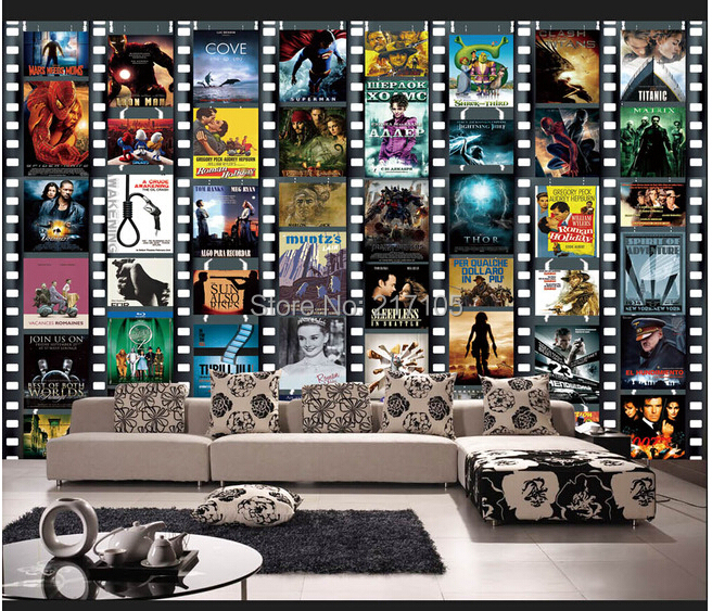 Custom modern wallpaper movie posters 3d wallpaper murals for Cheap wall mural posters