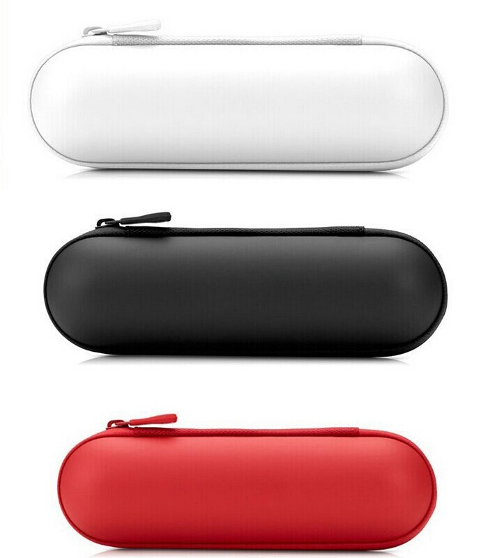 Portable zipper carrying bag travelling case for pill Bluetooth speaker capsule wireless player outdoor sport(China (Mainland))