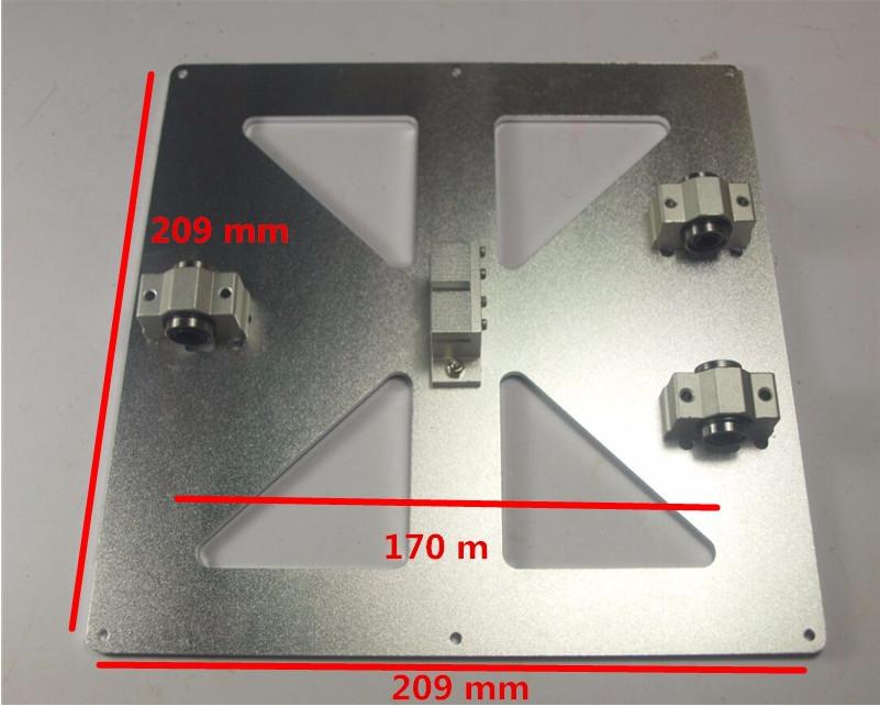 Гаджет   wholesale 3D printer reprap Mendel Prusa i3 z-axis platform,made by 3mm heigh Aluminum alloy None Офисные и Школьные принадлежности