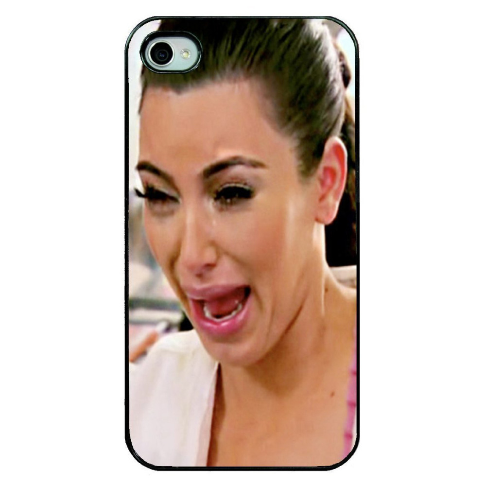 Brand New 2014 Girl Kim Kardashian Crying Hard Plastic Mobile Phone Shell Case Cover Iphone 4 4S 5 5S 5C 6 Plus - ShoppingCenter store