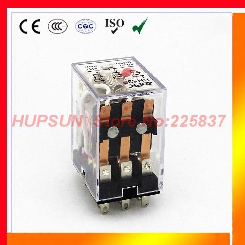 Free shipping (5pcs/lot) HH53P my3 mini rele 12v dc ac 24v 36v 48v 110v relay 220v DC/AC 5A mini electromagnets 3pdt relay(China (Mainland))
