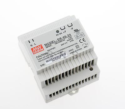 Meanwell DR-60-24 AC to DC Power Supply Enclosed LED Output 24 Volt 2.5A(China (Mainland))