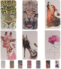 Luxury Tiger Leopard Leather Filp Wallet Phone Bags for LG Leon 4G LTE H320 H324 H340N C40 C50 Case Vintage Flower Stand Cover