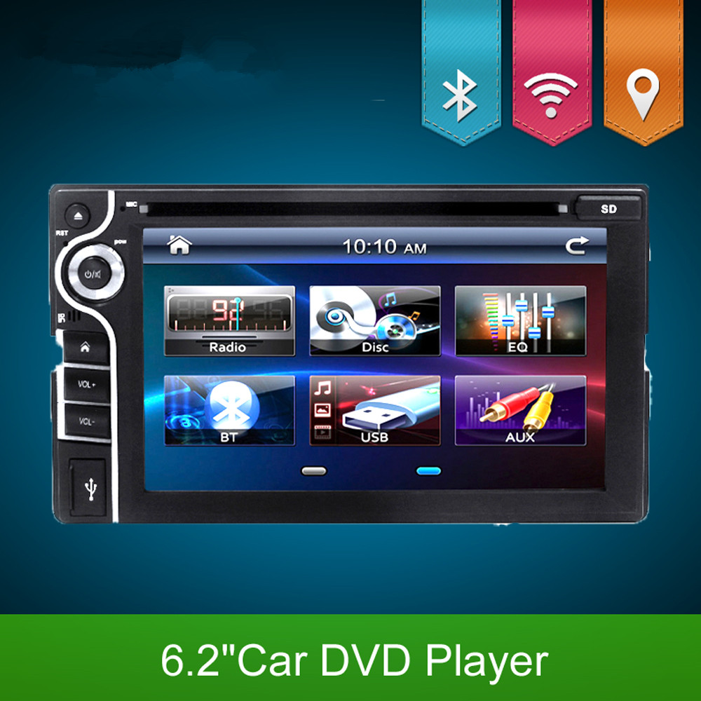 2016 new 2 DIN Car DVD Player Double Radio Stereo In Dash MP3 Head Unit CD Camera parking 2DIN HD TV Radio Video Audio(China (Mainland))