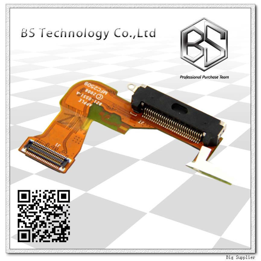 10pcs/lot Black Wholesale Dock Connector Charger Port Flex Cable for iPhone 3G(China (Mainland))