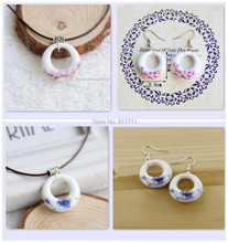 Jewelry Sets of Ceramic Earring and Necklace New Fashion Vintage Accessories Wholesale Cool Gifts For Women Girls(China (Mainland))