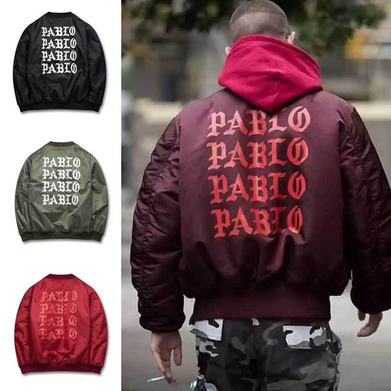 2016 Autumn Winter Jacket I feel like Paul Pablo The Life Of Pablo MA1 Bomber Jacket Brand Thick Warm Bomber Coat Men(China (Mainland))