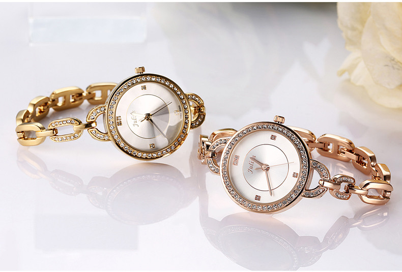 Верхняя женская леди наручные часы юлий кварцевых часов новинка платье браслет цепочка горный хрусталь девушка рождественский подарок на день рождения 806