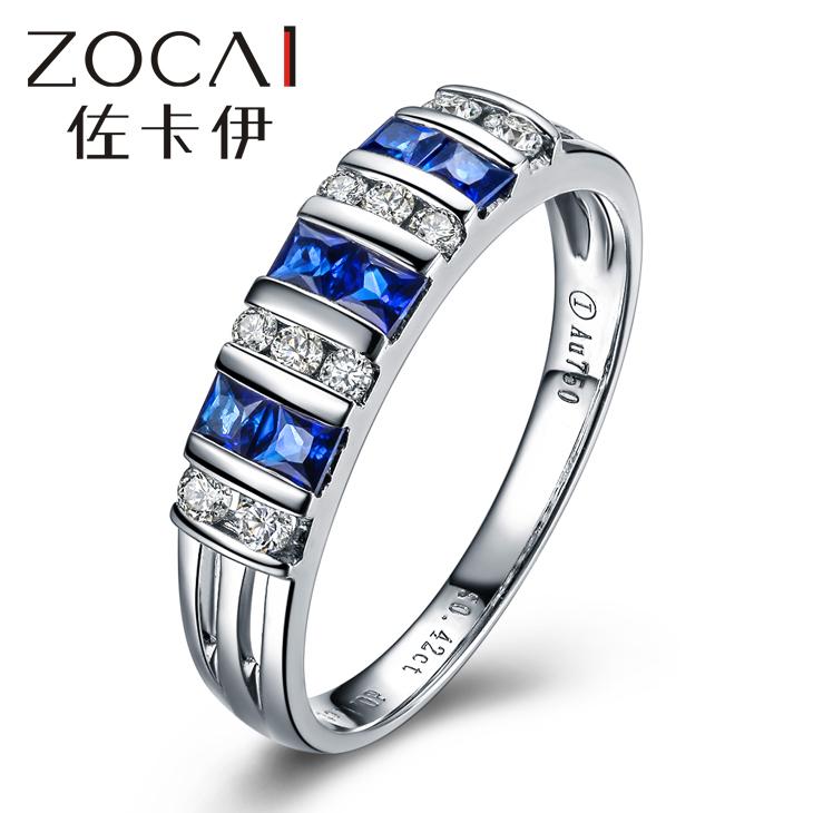 Здесь продается  ZOCAI 2014 NEW ARRIVAL REAL 18K WHITE GOLD 0.4 CT REAL BLUE SAPPHIRE RING 0.17 CT DIAMOND RING  Ювелирные изделия и часы