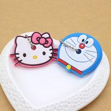 2 PCS bonito Dos Desenhos Animados Anime chaveiro tampa chave tampa do teclado de Silicone mulheres olá kitty Minnie Anel chave Chaveiro carro proteger porte clef(China)