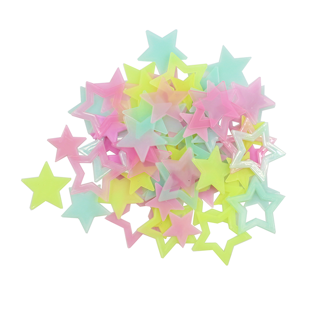 240pcs/pack Glow Wall Stickers Decal Baby Kids Bedroom Home Decor Five-pointed Stars Luminous Fluorescent good night DA(China (Mainland))