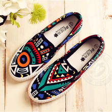Female JK canvas shoes sneakers Harajuku style preppy chic slip on shoes lazy pedal cotton made