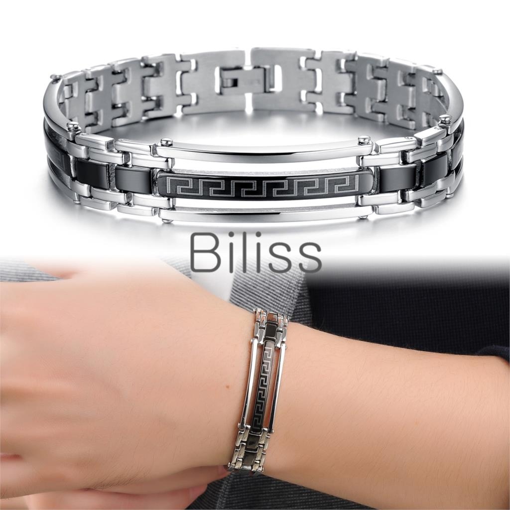 Wholesale Men Jewelry Fashion Style Great Wall Stainless Steel Bracelets Link Chain Cuff Bangle armbanden en armbanden 20cm*12mm(China (Mainland))