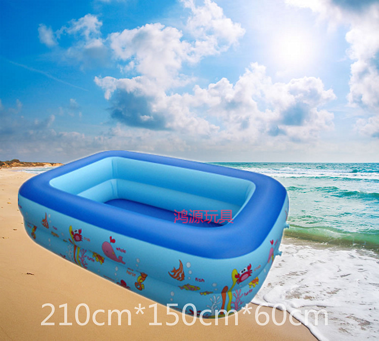 2 m a super deluxe double inflatable swimming pool for adults and children can be safe and convenient fashion(China (Mainland))