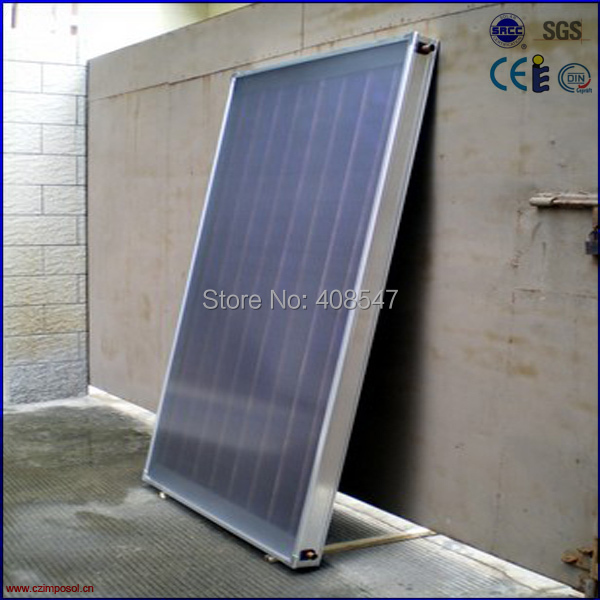 flat roof blue titanium flat panel solar collector(China (Mainland))