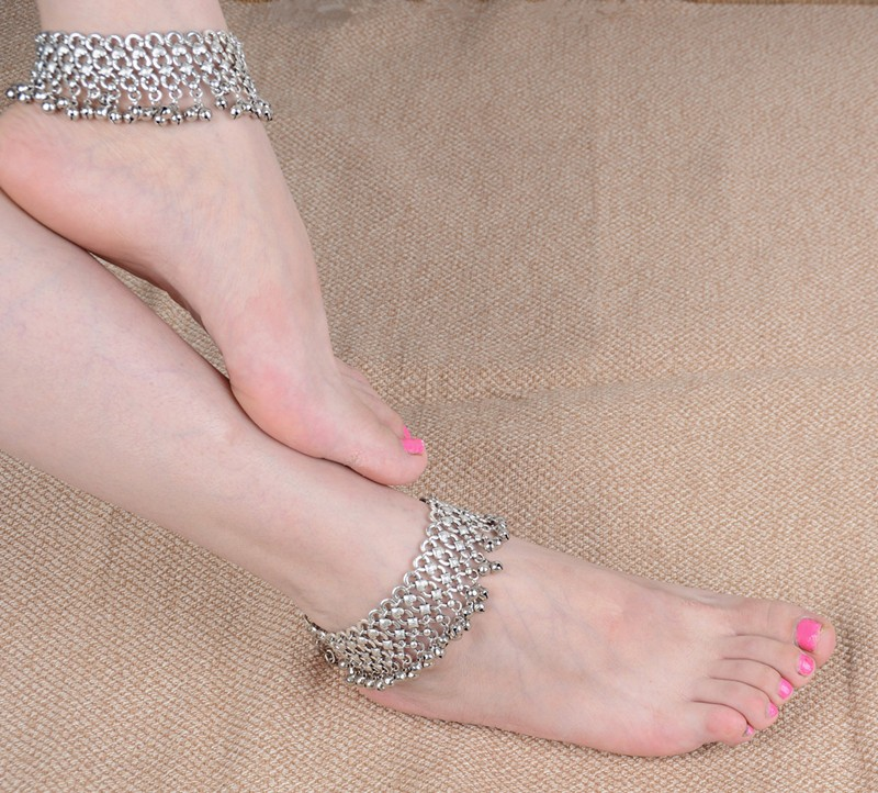 B-0640 Korean style silver plated bell bead foot chain fashion anklet for women jewelry adjustable, anklet - idealway_img1.cdn.tradevv.com_5
