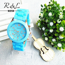 Hot Sale Geneva Quartz Watch Women New 2015 Luxury Fashion Designer Ladies Sports Brand Silicone Jelly Watches