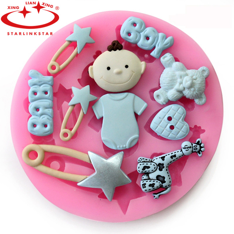 1PCS baby Shape party Silicone babies for sale Cake mold mould sugarcraft Fondant Decorating Tools kitchen accessories(China (Mainland))