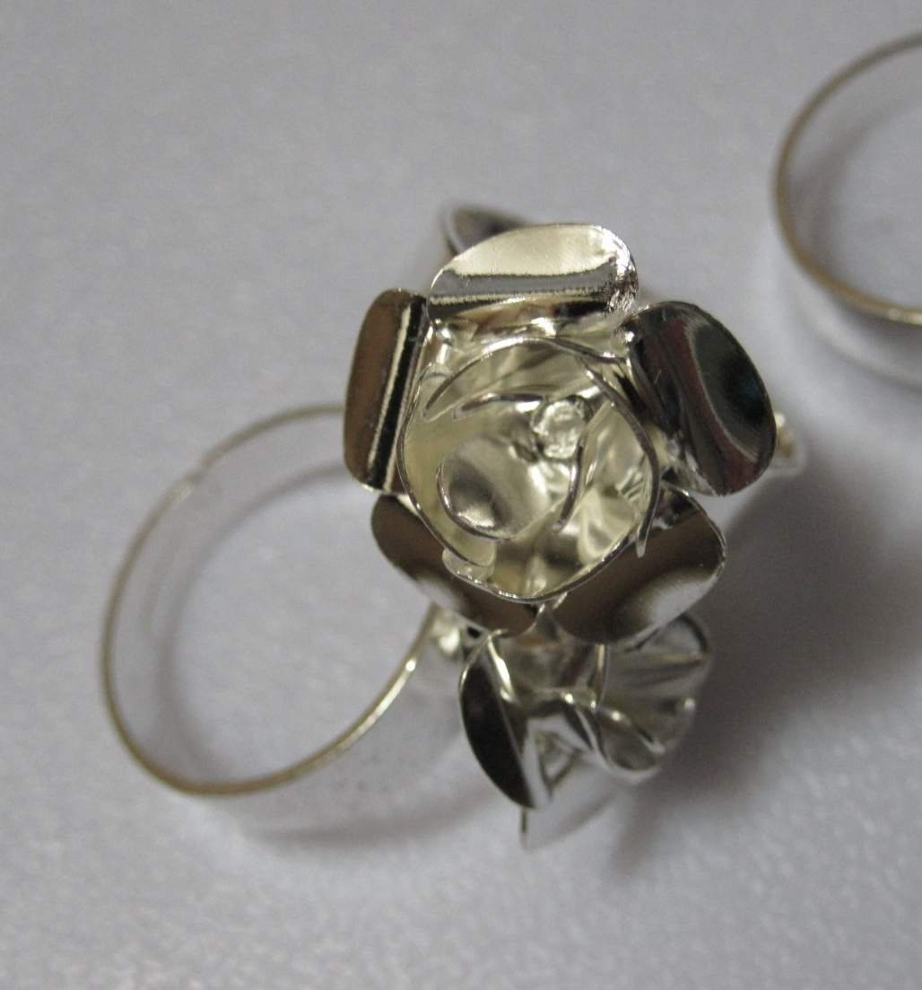 Buy Freeshipping Rose Flower Cap Brass Silvery European Antique Style Ring