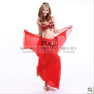 New 2015 Novelty Girls Belly dance bra costume set Sexy Women Ballroom Dancing Bellydance Sets Bra & Briefs for Nightclub Red(China (Mainland))
