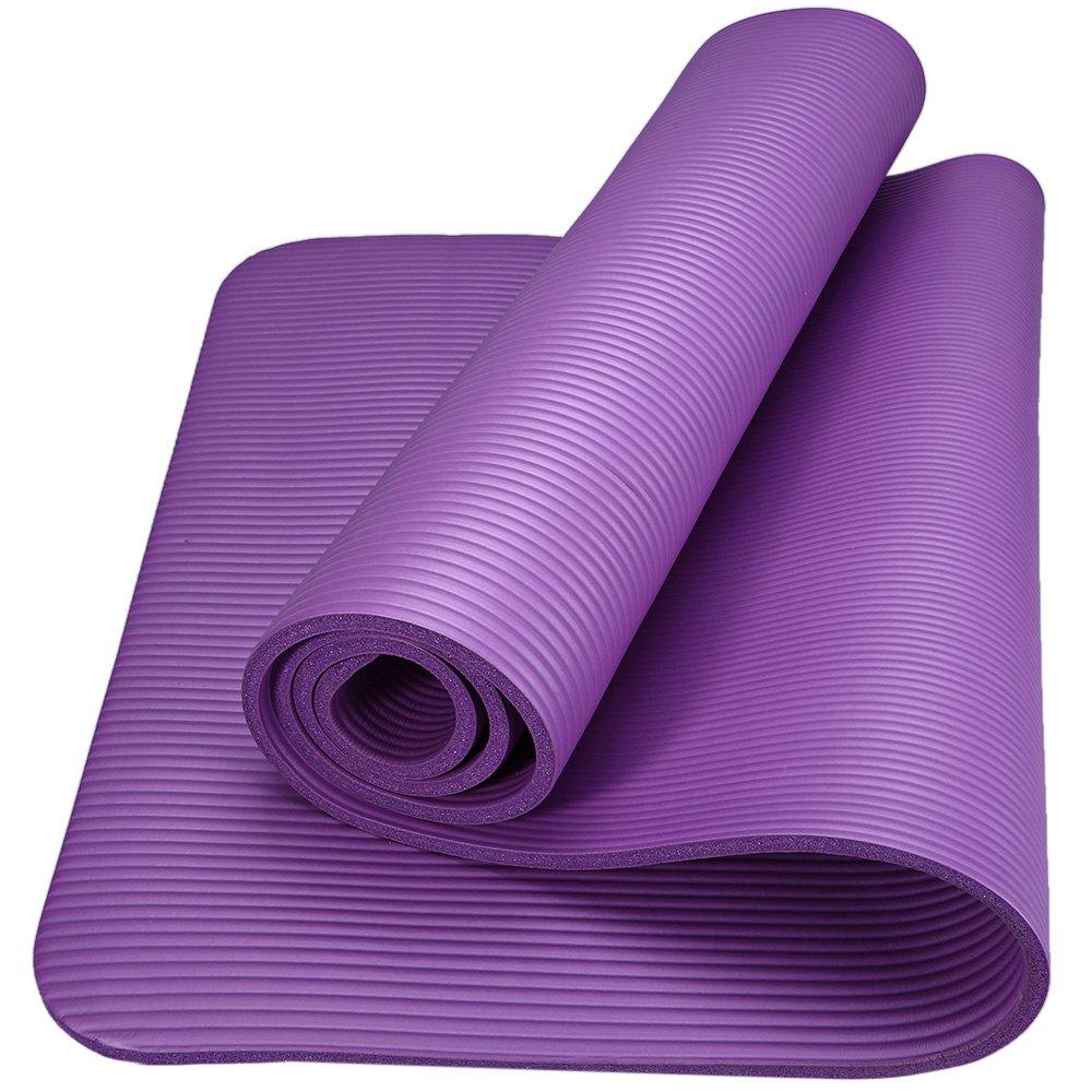 6 Colors 183 x 61 x 1cm NBR Yoga Mat 10mm Anti-skid Yoga Mat Nonslip Gym Pilate EVA Multifunctional Yoga Mat Fitness(China (Mainland))