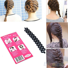 Fashion Hair Braiding Braider Tool Roller With Magic hair Twist Styling Bun Maker 1N3L(China (Mainland))