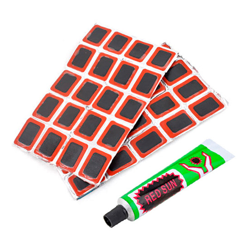 Pracitcal 2 Sets 96 Patches Bike Bicycle Repair Rubber Tire Tyre Patch  #4385