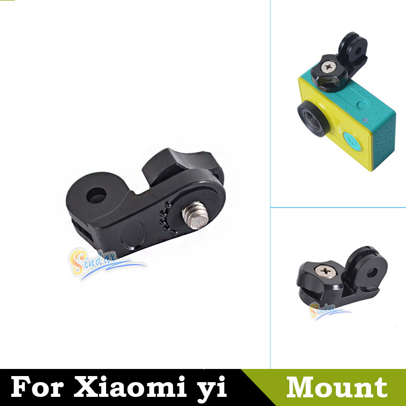 For Xiaomi yi Accessories 1/4'' Connector Adapter Camera Mount Tripod Monopod for Xiaomi Yi Action Sport Camera accessories(China (Mainland))