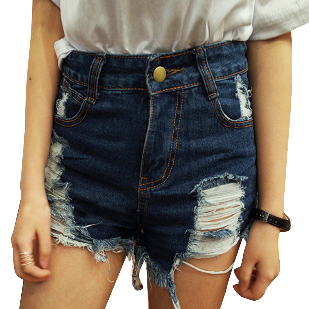 High Waisted Ripped Jean Shorts - Jeans Am